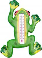 Songbird Essentials Climbing Green Frog Small Window Thermometer