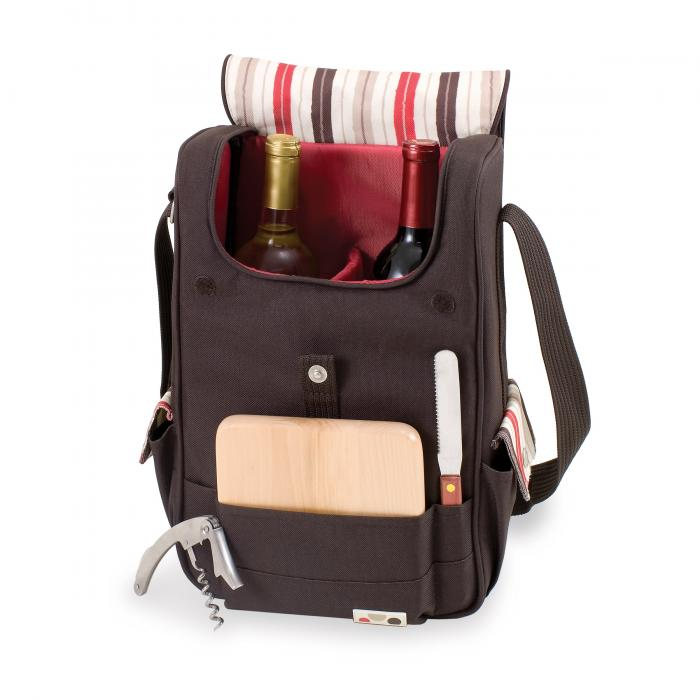 Picnic Time Duet-Moka Wine and Cheese Tote
