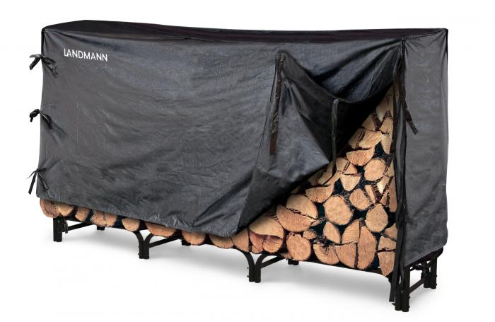 Landmann 8' Firewood Rack w/ Cover (32mm Tube and 1.0mm Thickness)