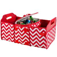 Original Folding Trunk Organizer with Cooler by Picnic at Ascot - Chevron Red