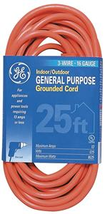 GE HEP51924/HEP50674 Indoor/Outdoor Extension Cord (25 Ft)