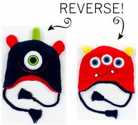 Luvali Convertibles Monsters Reversible Kid's Winter Hat, Large
