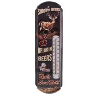 Rivers Edge Products Shootin' Deers Tin Thermometer