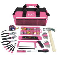 Apollo 201 Piece Pink Household Tool Kit in Bag