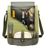 Picnic at Ascot Hamptons Two Bottle Wine & Cheese Cooler w/Glasses