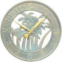 Whitehall Palm Clock  - Bronze Verdi
