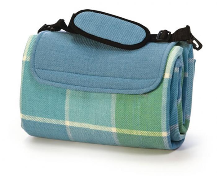 """Mega Mat Folded Picnic Blanket with Shoulder Strap - 68"""" x 82"""" (Ocean Mist)"""