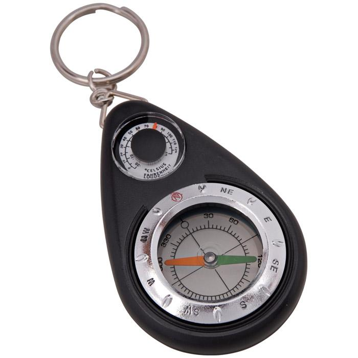 Munkees Keychain Compass with Thermometer