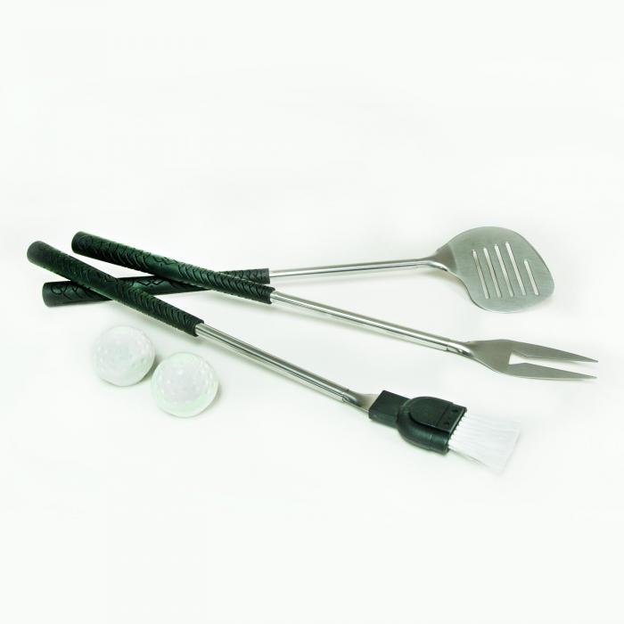 Three Piece Bar-B-Que Set with Golf Club Handles