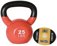Gofit GF-KBELL25 Premium Kettlebell With Training DVD (25 Lbs; Orange)