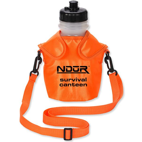 NDuR Survival Canteen w/Advanced Filter, Orange, 46oz.