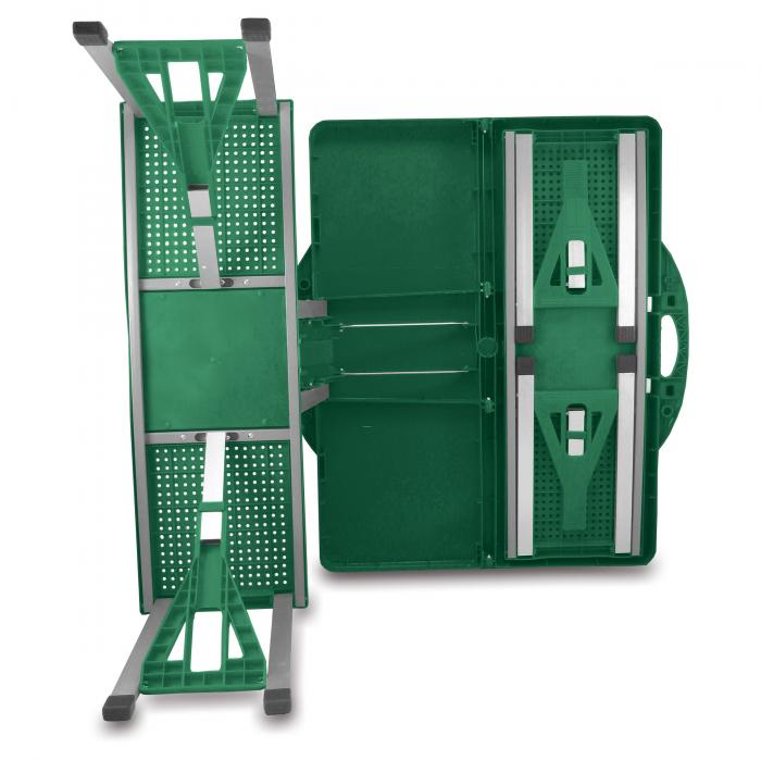 Picnic Time Picnic Table, Portable w/ 4 Seats, Hunter Green