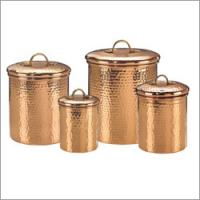 Old Dutch Decor Copper Hammered Canisters