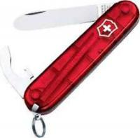"Victorinox Swiss Army 54551 My First Victorinox, 3-1/4"" Translucent Red"