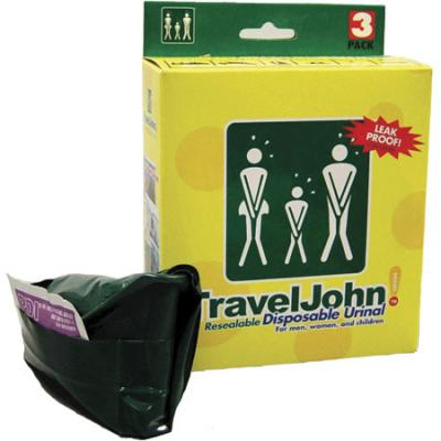 Travel John Disposable Urinals, Resealable