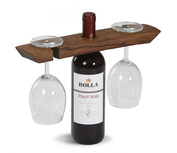 Picnic Plus Wine Barrel Glass Caddy