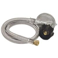 """Bayou Classic 36"""" Stainless Braided Low Pressure Hose with 1-PSI Regulator"""
