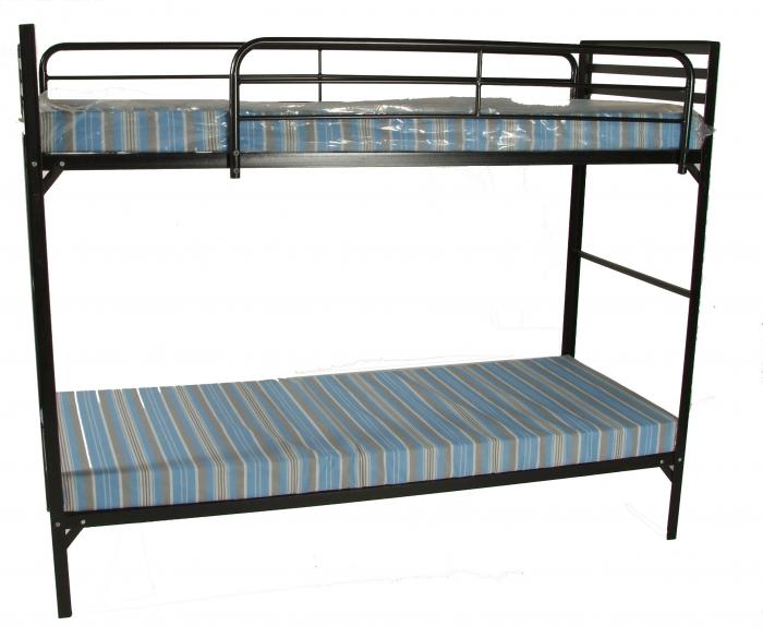 Blantex Camp Style Institutional Bunk Beds w/Mattress
