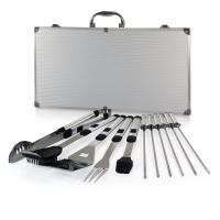 Picnic Time Mirage Pro 11-Piece Stainless Steel Barbecue Tool Set