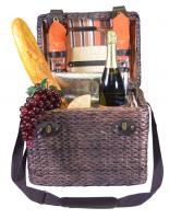 Picnic Gift - Monet- Insulated Two Person Wine & Cheese Basket