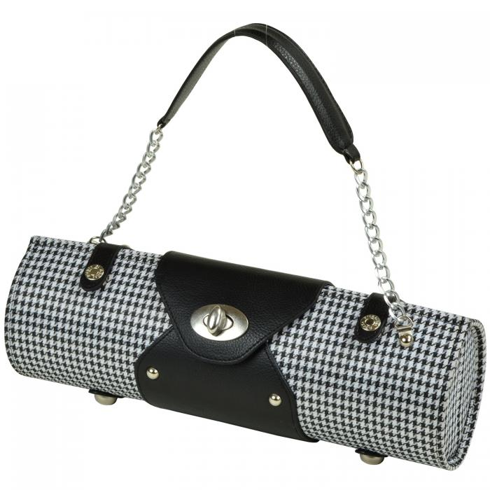 Picnic at Ascot Wine Purse - Houndstooth