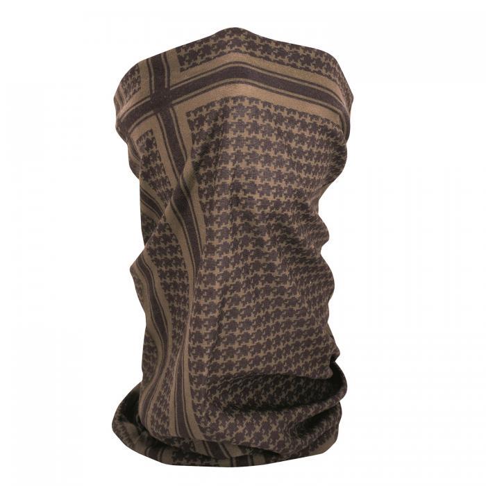ZANheadgear Fleece Lined Motley Tube -Coyote Tan Houndstooth