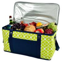 Picnic at Ascot 72 Can Large Folding Collapsible Cooler - Trellis Green Navy