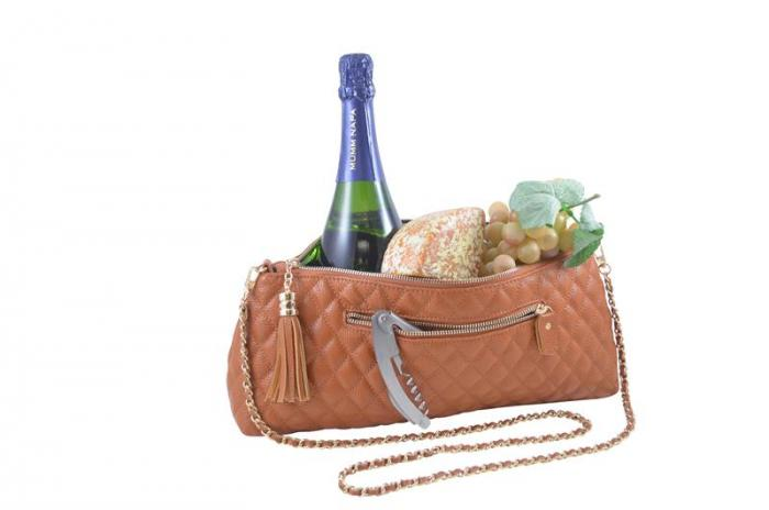 Picnic Gift - Soriee - Leather Wine Single Bottle Carrier Brown