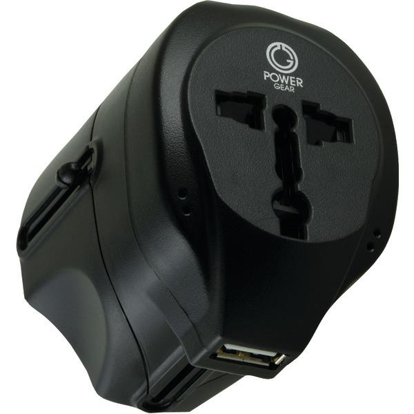 Ge 94313 International Travel Adapter with USB