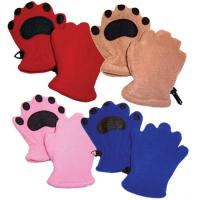 Bearhands Youth Fleece Mittens, Blue