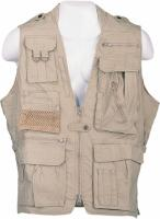 Humvee Safari Vest - Khaki, Medium