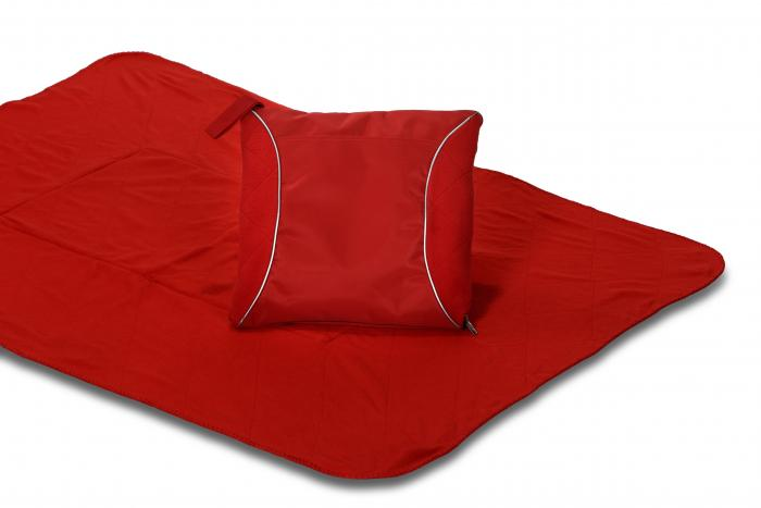 Picnic Plus Fleece Blanket Cushion, Red