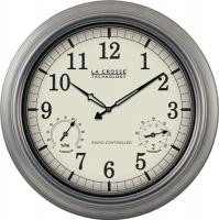 "La Crosse Technology 18"" Metal Atomic Analog Wall Clock"