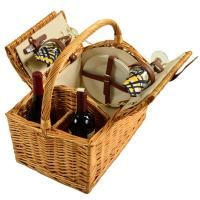 Picnic at Ascot Vineyard Willow Picnic Basket with Service for 2