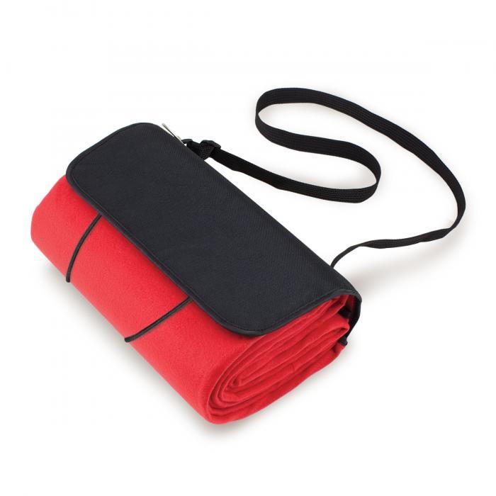 Picnic Time Blanket Tote-Red/Black
