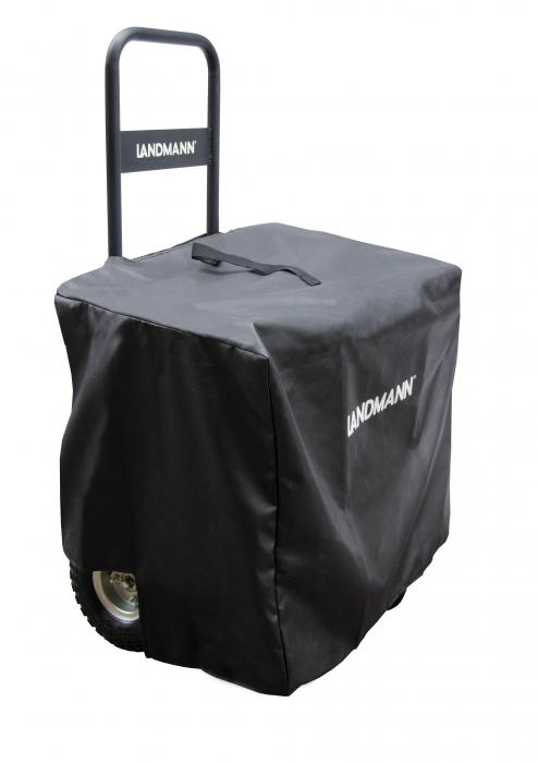 Landmann Black Firewood Caddy with Black Cover