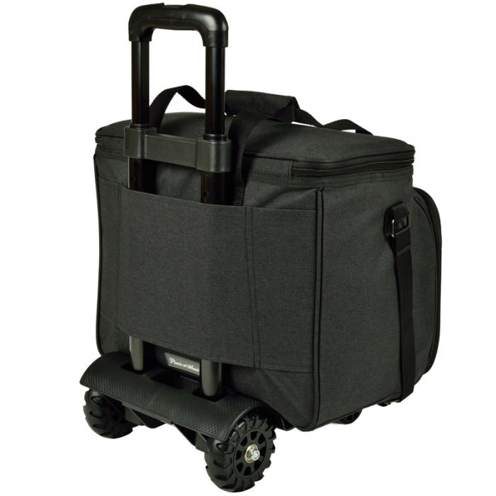 Picnic at Ascot Deluxe Picnic Cooler For Four On Wheels - Charcoal
