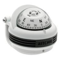 Ritchie TR-31W Trek Compass - Bracket Mount - White