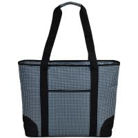 Picnic at Ascot  Extra Large Insulated Cooler Bag - 30 Can Tote - Houndstooth