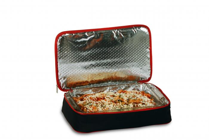 Picnic Plus Entertainer Hot & Cold Food Carrier - Black/Red
