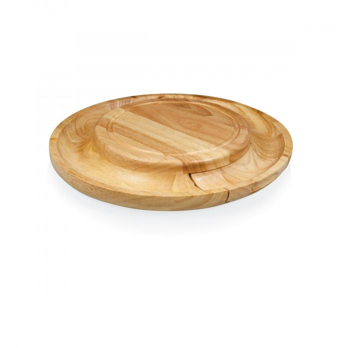 "Picnic Time 13.4"" Diameter Colby Rubberwood Cutting Board"