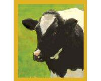 Magnetic Bookmark Cow (Black & White)