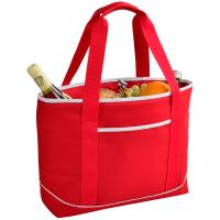 Picnic at Ascot  Large Insulated Cooler Bag - 24 Can Tote - Red