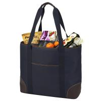 Picnic at Ascot  Extra Large Insulated Cooler Bag - 30 Can Tote -  Navy/Brown