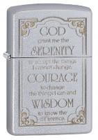 Serenity Prayer, Satin Chrome Zippo Lighter