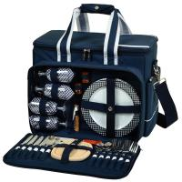 Picnic at Ascot Bold Deluxe Picnic Cooler For Four - Navy
