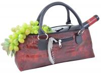 Primeware Wine Clutch - Burgundy Croc