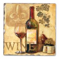 Counter Art Tasting Notes Single Tumbled Tile Coasters