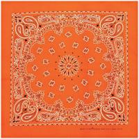 Carolina Manufacturing Neon Paisley Bandana Orange