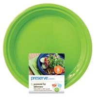 Preserve Lg Plate 8Ct Green